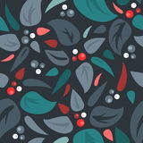 Seamless background with leaves Royalty Free Stock Photos
