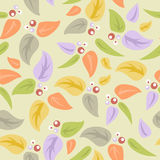 Seamless background with leaves Stock Photos