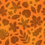 Seamless background with leaves 1 Stock Photo