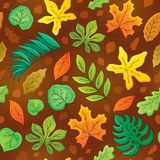 Seamless background with leaves 3 Royalty Free Stock Photography
