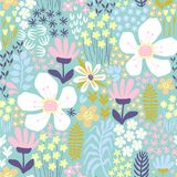Colorful vector floral pattern Royalty Free Stock Photos