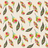 Seamless background from leaves Royalty Free Stock Images