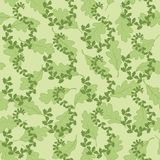 Seamless background with leaves Stock Photography