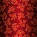 Seamless background with leaves of roses. An illustration for your design project Royalty Free Stock Photo