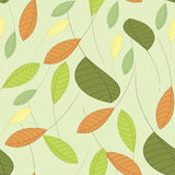 Seamless background with leaves. In shades of green Royalty Free Stock Photography