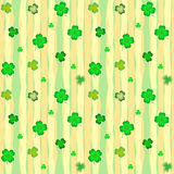 Seamless background with leaves of shamrock Royalty Free Stock Photography