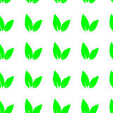 Seamless background with leaves vector Stock Photo