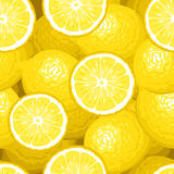 Seamless background with lemons. Stock Image