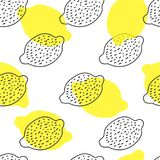 Seamless background with lemons different colors. On a white background royalty free illustration