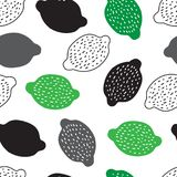 Seamless background with lemons different colors. On a white background stock illustration