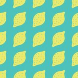 Seamless background with lemons. Lemons repeating pattern for textile design. royalty free illustration