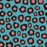 Seamless background with leopard pattern. Vector background for design Stock Photo