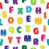 Seamless background letters kids alphabet colorful rainbow.  stock illustration