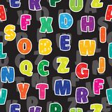 Seamless background letters kids alphabet colorful rainbow.  royalty free illustration