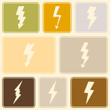 Seamless background with lightning Stock Photography