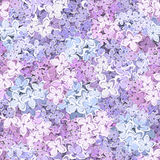 Seamless background with lilac flowers. Vector illustration. Stock Image