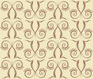 Seamless background with lilies of the valley. Pattern of stylized flowers on beige background Royalty Free Stock Photo