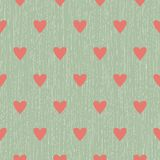 Seamless background with lines AND HEARTS Royalty Free Stock Image