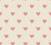 Seamless background with lines and hearts Stock Images