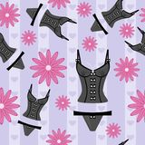 Seamless background with lingerie Royalty Free Stock Photography