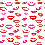 Seamless background lips Stock Image