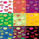 Seamless background lips Royalty Free Stock Photos