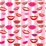 Seamless background lips Stock Photography