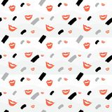 Seamless background with lips and element royalty free illustration