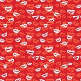 Seamless background with lips royalty free illustration