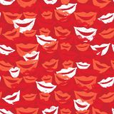Seamless background with lips stock illustration