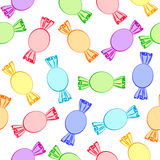 Seamless background with lollipops Stock Images