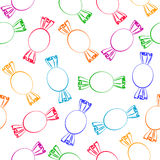 Seamless background with lollipops Royalty Free Stock Photos