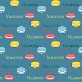 Seamless background with macaroons Stock Photography