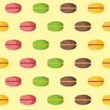 Seamless background with macaroons Royalty Free Stock Image