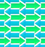 Seamless background made of arrows. Seamless background made of colorful glossy arrow texture Stock Image
