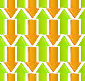 Seamless background made of arrows Stock Photo