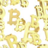 Seamless background made of bitcoin signs Royalty Free Stock Image