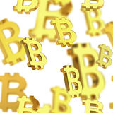 Seamless background made of bitcoin signs Stock Image