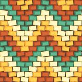Seamless background made of colorful bricks Royalty Free Stock Image