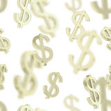Seamless background made of dollar signs Stock Images