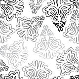 Seamless background made of exotic pattern in black and grey col Stock Photo