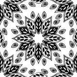 Seamless background made of exotic pattern in black and white co stock illustration