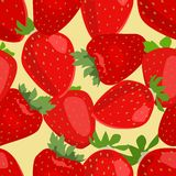 Seamless background  made of strawberry Royalty Free Stock Photos