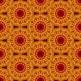 Seamless background mandala. Vector seamless pattern background mandala ornament indian african Royalty Free Stock Photography