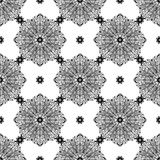 Seamless background with mandala. Vintage geometric textures. Lace pattern. Decorative background for card, web design and etc. Stock Photos