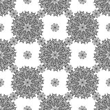 Seamless background with mandala. Vintage geometric textures. Lace pattern. Decorative background for card, web design and etc. Stock Images