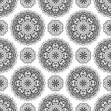Seamless background with mandalas. Stock Images