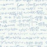 Seamless background of many formulas. Royalty Free Stock Image
