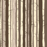 Seamless background with many tree trunks. Royalty Free Stock Image