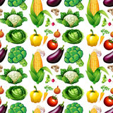 Seamless background with many vegetables Royalty Free Stock Photo